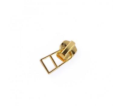 Бегунок для металлической молнии с фиксатором НН-3888 Золото