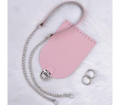 Комплект из плотной кожи Saffiano в один слой для сумочки Орео с комбинированным ремешком
