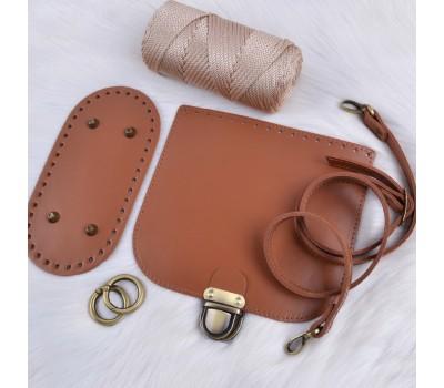 Набор из натуральной кожи для сумки кросс-боди, ремешок с регулировкой длины.
