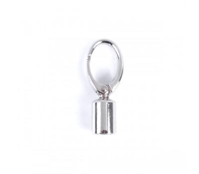Карабин-ручкодержатель 14мм. Серебро