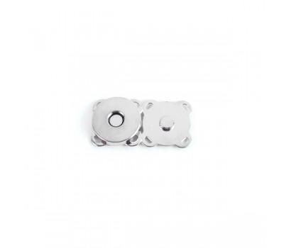 Кнопка магнитная пришивная Серебро 15мм.