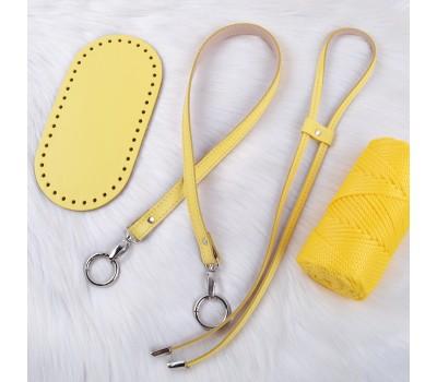 Комплект из натуральной кожи для сумки-торбы