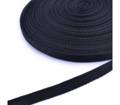 Ременная лента 15х1,8мм черная, длина - 1 метр