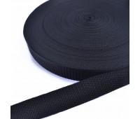Ременная лента 30мм черная, длина - 1 метр