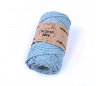 Эко шнур Macrame Rope 4 мм Голубой туман