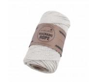 Эко шнур Macrame Rope 4 мм Молочный