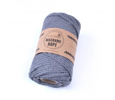 Эко шнур Macrame Rope 4 мм Темно-серый