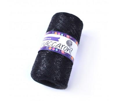 Трикотажный плоский шнур Ribbon Glitter цвет Черная ночь Глиттер