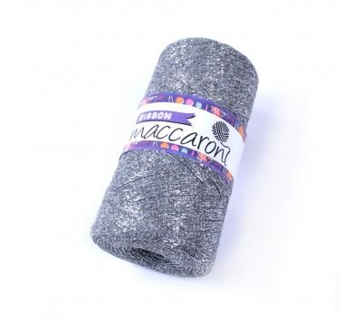 Трикотажный плоский шнур Ribbon Glitter цвет Никель Глиттер