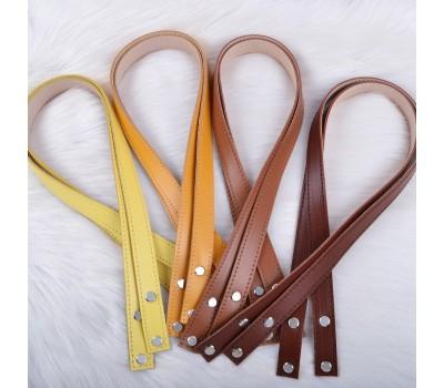 Ручки из натуральной кожи с кожаными фиксаторами на винтах 70х2 см