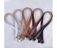 Комплект ручек из натуральной кожи для корзин и шоперов на винтах  65x1.5см.