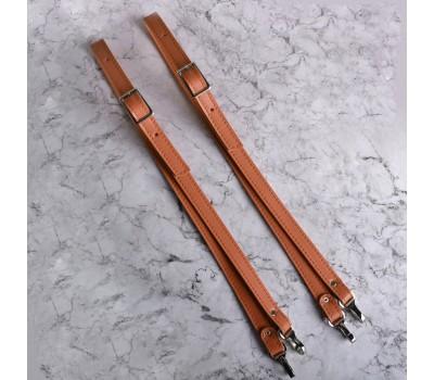 Ремешки из Эко-кожи для рюкзака, с регулировкой и карабинами 80см.