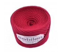 Трикотажная пряжа Bobilon (7-9 мм), цвет Бордовое Бордо