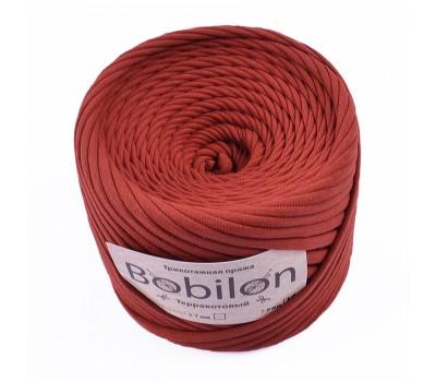 Трикотажная пряжа Bobilon (7-9 мм), цвет Терракотовый