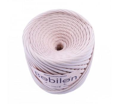 Трикотажная пряжа Bobilon (7-9 мм), цвет Айвори