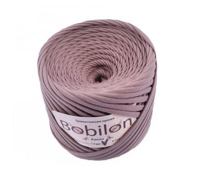 Трикотажная пряжа Bobilon (7-9 мм), цвет Какао