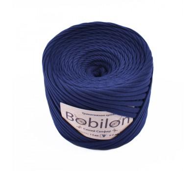 Трикотажная пряжа Bobilon (7-9 мм), цвет Синий сапфир