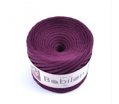 Трикотажная пряжа Bobilon (5-7 мм), цвет Баклажан