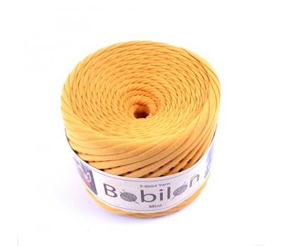 Трикотажная пряжа Bobilon (5-7 мм), цвет Горчица