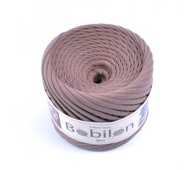 Трикотажная пряжа Bobilon (5-7 мм), цвет Какао