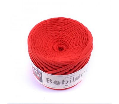 Трикотажная пряжа Bobilon (5-7 мм), цвет Красный мак