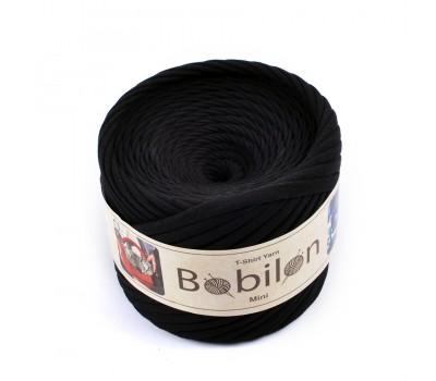 Трикотажная пряжа Bobilon (5-7 мм), цвет Черный