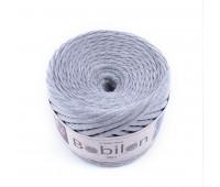 Трикотажная пряжа Bobilon (5-7 мм), цвет Серый меланж