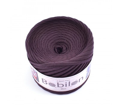 Трикотажная пряжа Bobilon (5-7 мм), цвет Шоколад