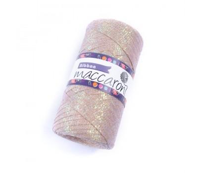 Трикотажный плоский шнур Ribbon Glitter цвет Мокко Глиттер