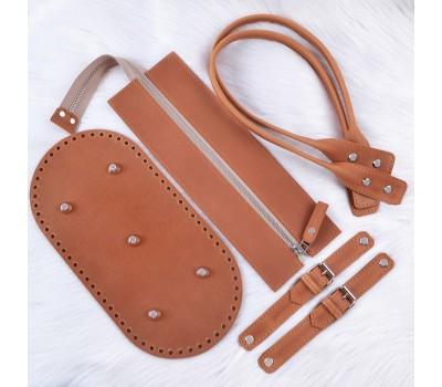 Комплект из натуральной кожи для летней сумки
