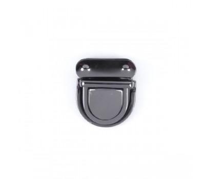 Замок клавишный Черный никель 43х37 мм