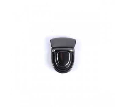 Замок клавишный сумочный Черный никель 30х42мм.