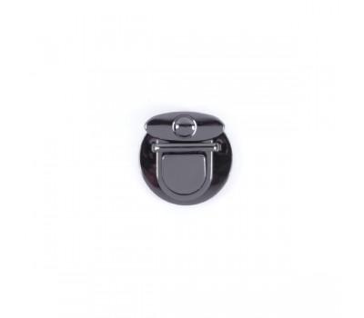 Замок клавишный сумочный Черный никель 47х47 мм.