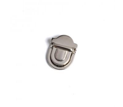 Замок клавишный сумочный серебро 34 х 47 мм.